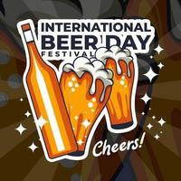 festival do dia internacional da cerveja vetor