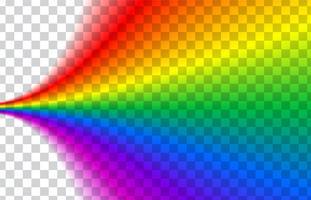 Arco-íris transparente. Ilustração vetorial Arco-íris realista em fundo transparente.