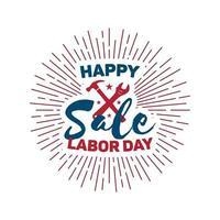 ilustração vetorial para o dia do trabalho - feriado nacional dos eua. vetor