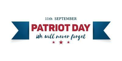 Bandeira do dia do patriota 911. vetor