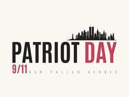 modelo de design do vetor do dia do patriota.