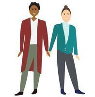 casal de homens gays dos desenhos animados. ilustração vetorial vetor