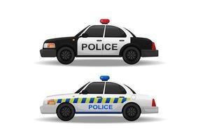 conjunto de carro de polícia de vetor