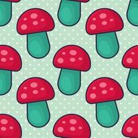 ilustração de padrão sem emenda de cogumelos vetor