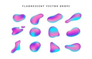 Formas vivas gradientes. Coleção fluida do vetor colorido abstrato moderno.