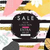 Banner de site de venda. Tag de venda. Ilustração em vetor material promocional de venda