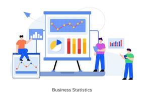 estatísticas de negócios e gráfico vetor