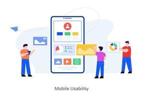 interface de usabilidade móvel vetor