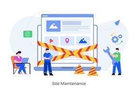 manutenção e gestão de sites vetor