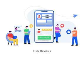 comentários e feedback do usuário vetor
