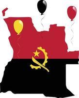 ilustração vetorial de mapa e bandeira de angola vetor
