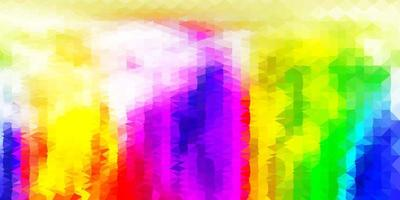 modelo de triângulo abstrato luz multicolor vetor. vetor