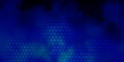 padrão de vetor azul escuro com esferas. ilustração abstrata moderna com formas coloridas de círculo. design para cartazes, banners.