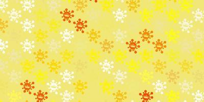 textura vector laranja claro com símbolos de doença.