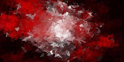fundo do mosaico do triângulo do vetor vermelho escuro.