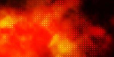 pano de fundo laranja escuro do vetor com círculos. ilustração abstrata moderna com formas coloridas de círculo. padrão para papéis de parede, cortinas.