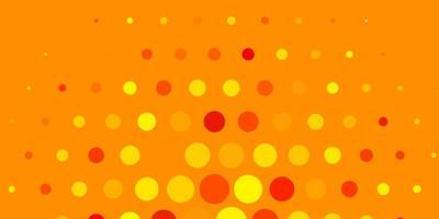 fundo vector amarelo claro com bolhas. ilustração com conjunto de esferas abstratas coloridas brilhantes. padrão para sites.