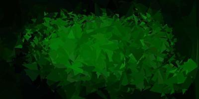 papel de parede poligonal geométrico de vetor verde escuro.