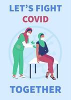 modelo de vetor plano de cartaz de vacinação