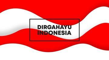 feliz dia da independência da Indonésia vetor