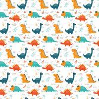 Vetor de padrão de dinossauros