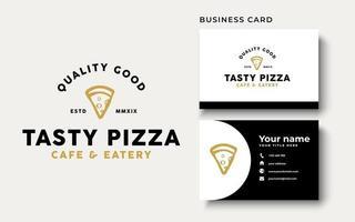 etiquetas de tipografia vintage de pizza, emblemas, modelos de logotipo vetor