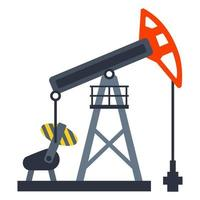 equipamento para bombear óleo do solo. mineração de ouro negro. ilustração vetorial plana. vetor
