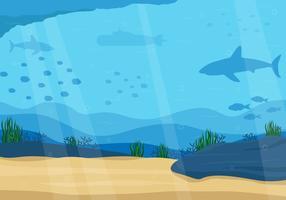 Fundo do oceano em vetor