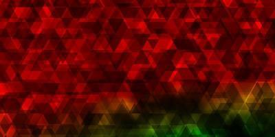 modelo de vetor multicolor escuro com linhas, triângulos.
