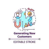gerando ícone de conceito de novos clientes vetor