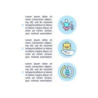 compensação de carbono beneficia ícones de linha de conceito com texto vetor