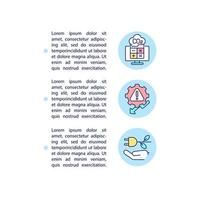 ícones de linha de conceito de etapas de compensação de carbono com texto vetor