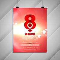 Modelo de cartão de convite para festa de celebração de dia elegante feminino abstrato