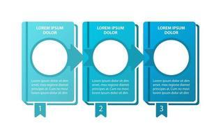 modelo de infográfico de vetor de aventura educacional. etapas do programa elementos de design de apresentação com espaço de texto. visualização de dados com 3 etapas. gráfico de linha do tempo do processo. layout de fluxo de trabalho com copyspace