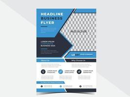 modelo de design de folheto de negócios corporativos para sua empresa ou serviços vetor