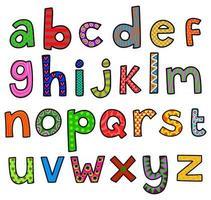 letras do alfabeto doodle vetor