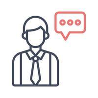 ícone de vetor consultor