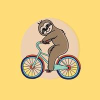 bicicleta dirigindo preguiça vetor