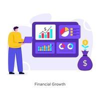crescimento financeiro e gráfico vetor