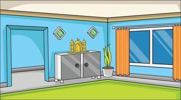 fundo religioso muçulmano dentro da família doméstica. com ornamento mesquita muçulmana com ilustração muçulmana decorativa plant.background. vetor