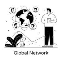 rede global e comunicação vetor