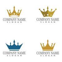 modelo de logotipo da coroa ilustração vetorial ícone design vetor