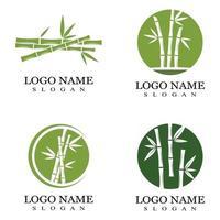 modelo de logotipo de bambu ilustração vetorial ícone design vetor