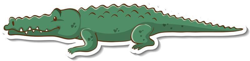 adesivo de personagem de desenho animado de crocodilo vetor