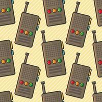 ilustração de padrão sem emenda de walkie talkie vetor