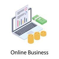 relatório de negócios online vetor