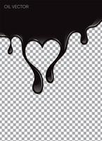 Óleo preto realista isolado em fundo transparente. Ilustração vetorial