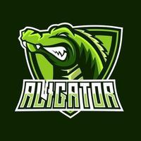 modelo de logotipo do mascote alligator esport vetor