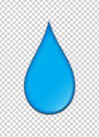 Respingo de tinta azul com fundo de transparência. Ilustração vetorial