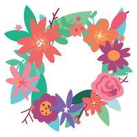 Bouquet Floral Celebrando Primavera vetor
